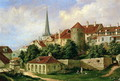 A View of Tallinn with Hattorpe Tower - Alexander Georg Schlater