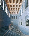 Interior view of a staircase, design for a castle in Koestritz, 1802-03 - Karl Friedrich Schinkel