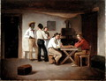 Sailors Playing a Board Game in a Tavern - Christian Andreas Schleisner