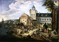 Market on the Banks of a River - Mathys Schoevaerdts