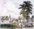 Islington Green: View towards the Church - Robert Blemell Schnebbelie