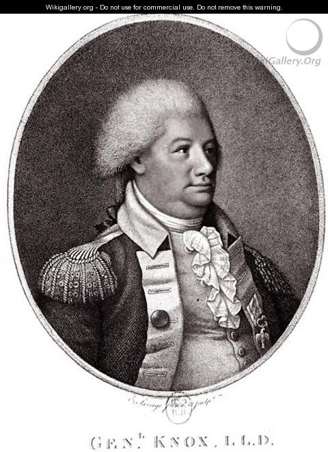 a biography of general henry knox Henry knox (july 25, 1750 – october 25, 1806) was a military officer of the continental army and later the united states army , who also served as the first united.