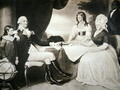 George Washington 1732-99 with his family and black servant - Edward Savage