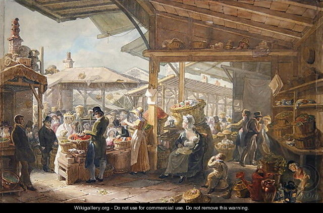Old Covent Garden Market, 1825 - George the Elder Scharf