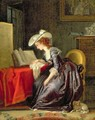 Woman Reading a Book - Jean-Frederic Schall