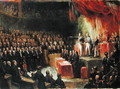 Study for King Louis-Philippe 1773-1850 Swearing his Oath to the Chamber of Deputies, 9th August 1830 - Ary Scheffer