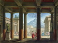 Entrance to the Amphitheatre, design for the opera LUltimo Giorno di Pompeii, 1827 - Alessandro Sanquirico