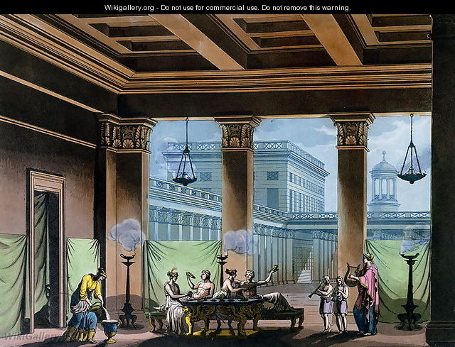 The Triclinium, from Le Costume Ancien et Moderne by Jules Ferrario, c.1820 - Alessandro Sanquirico