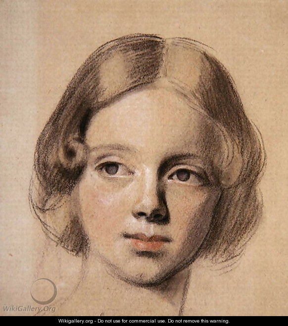 Head of Emma Sandys - Anthony Frederick Sandys