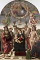 The Madonna and Child Enthroned with Saints - Giovanni Santi or Sanzio