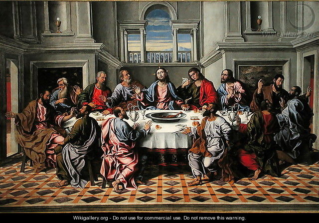 The Last Supper - Girolamo da Santacroce