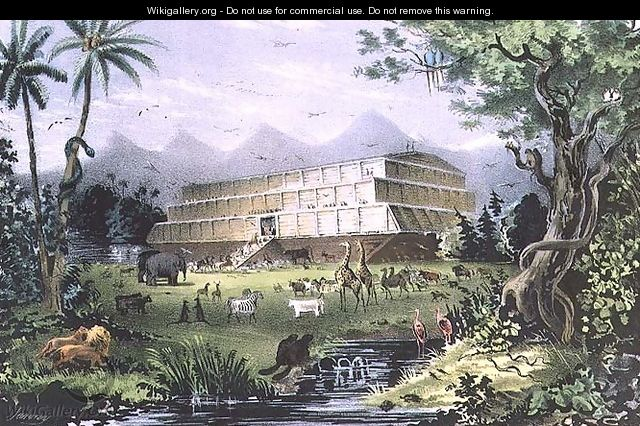 Noahs Ark, pub. by Currier and Ives, New York - Napoleon Sarony