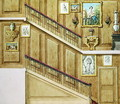 Design for a staircase at rue Fortunee, bought by Honore de Balzac 1799-1850 in 1847, 1851 - M. Santi
