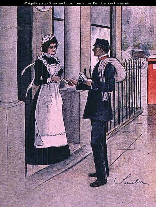 The Postman, No.1 from Familiar Figures of London, c.1901 - Robert Sauber