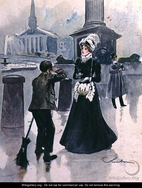 The Crossing Sweeper, No.6 from Familiar Figures of London, c.1901 - Robert Sauber