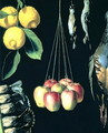 Still life with dead birds, fruit and vegetables, detail, 1602 - Juan Sanchez Cotan
