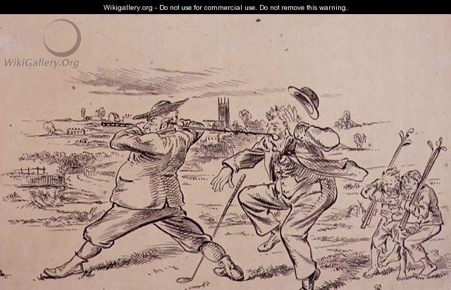 The Inconsiderate Golfer, illustration from Graphic magazine, pub. c.1870 - Henry Sandercock
