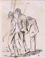 The Lethargic Golfers, illustration from Graphic magazine, pub. c.1870 - Henry Sandercock