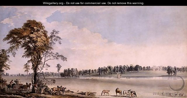 North West View of Wakefield Lodge in Whittlebury Forest, Northamptonshire, 1767 - Paul Sandby