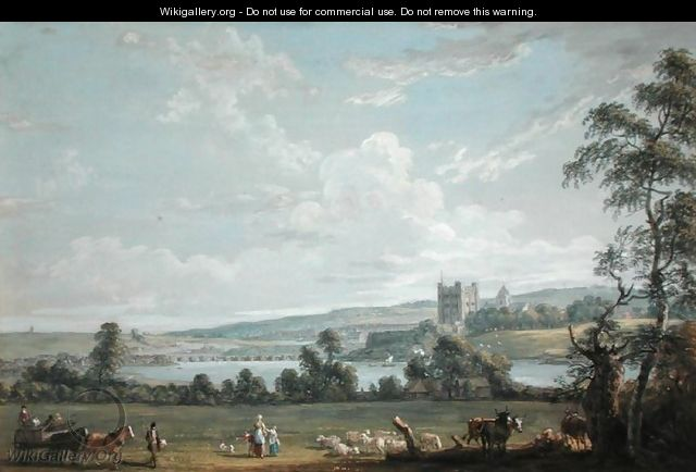 Rochester - View Across the Medway - Paul Sandby