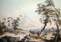 Italianate Landscape with Travellers, no.1 - Paul Sandby