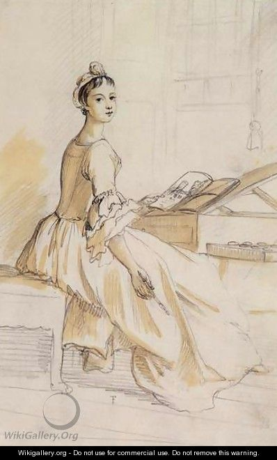 Portrait of a Lady at a Drawing Table - Paul Sandby