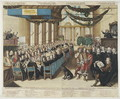 Feast on the Occasion of the Nuremberg Peace Process in the City Hall, 25 September 1649, engraved by Wolfgang Kilian, after 25 September 1649 - Joachim von, I Sandrart