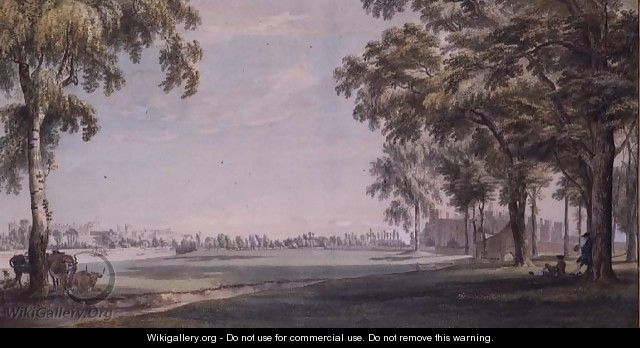 Eton College and Windsor from the Playing Fields - Paul Sandby