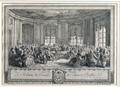 The Concert at the house of the Countess of Saint Brisson, engraved by L. Provost - Augustin de Saint-Aubin