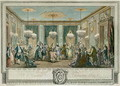 The Evening Dress Ball at the House of Monsieur Villemorien Fila, engraved by L. Provost - Augustin de Saint-Aubin