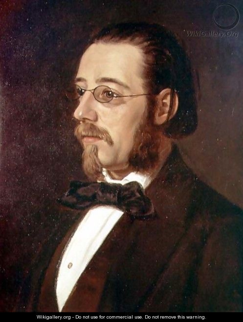 Portrait of Bedrich Smetana 1824-1884 Czech composer and pianist - Geskel Saloman
