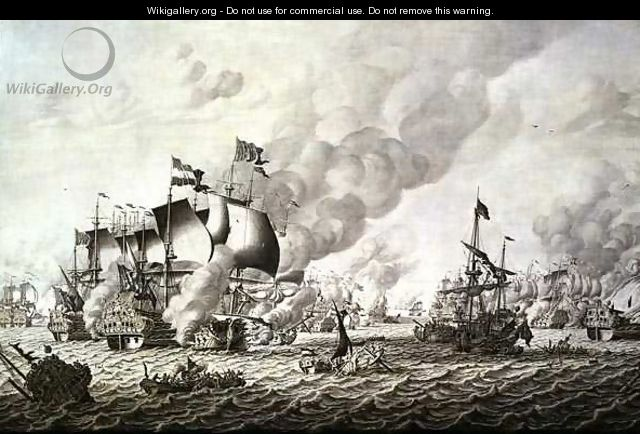 The Battle of La Hogue Barfleur, 19-24 May 1692 - Adriaen or Abraham Salm