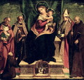 The Virgin and Child enthroned with Saints - Andrea Sabatini