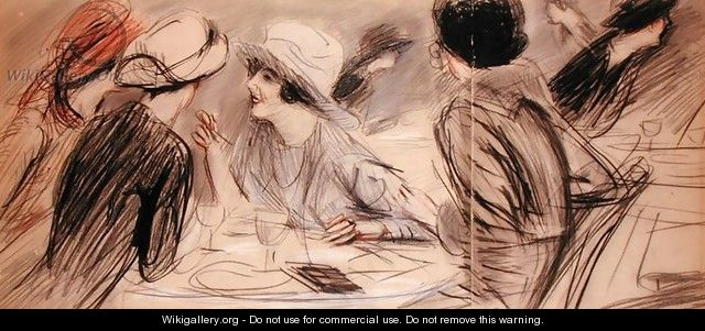 The Gossips - Paul Cesar Helleu