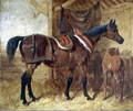 An Old Mare and Foal in a Stable, 1854 - John Frederick Herring Snr