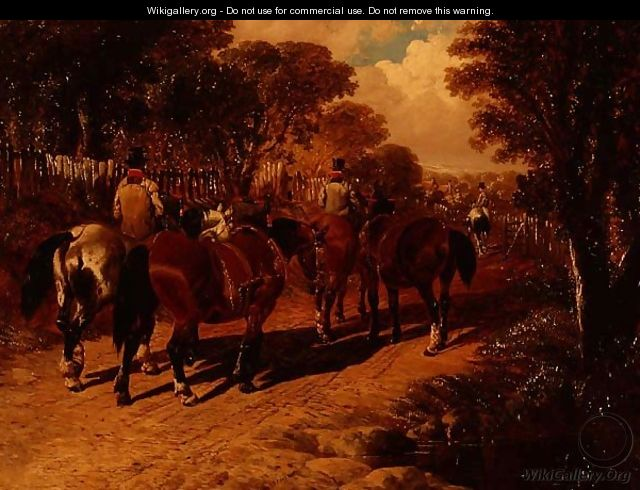 Coach Horses and Grooms on a Path - John Frederick Herring, Jnr.