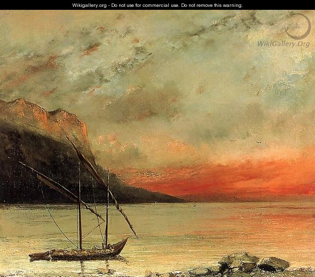 Sunset over Lake Leman, 1874 - Gustave Courbet