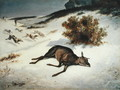 Hind Forced Down in the Snow, 1866 - Gustave Courbet