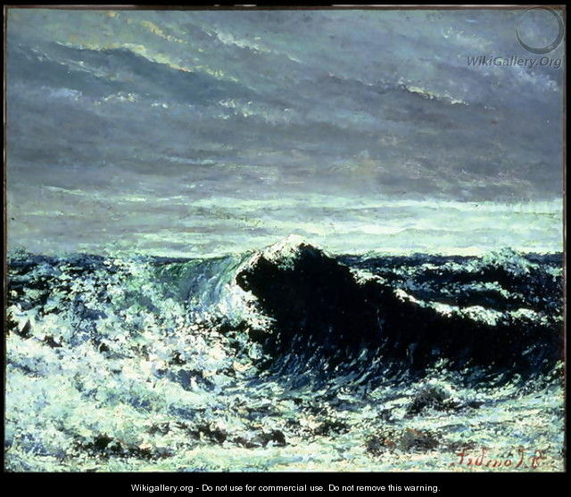 The Wave, c.1871 - Gustave Courbet