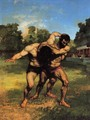 The Wrestlers, 1853 - Gustave Courbet