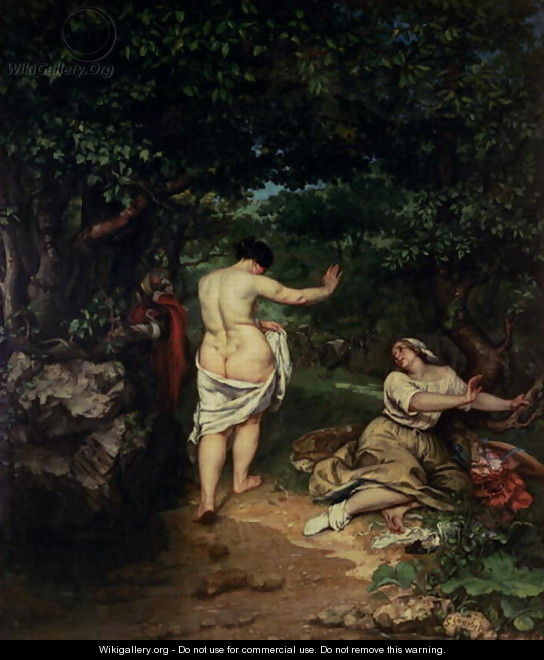 Les Baigneuses, 1853 - Gustave Courbet