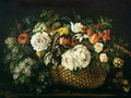 Flowers in a Basket, 1863 - Gustave Courbet