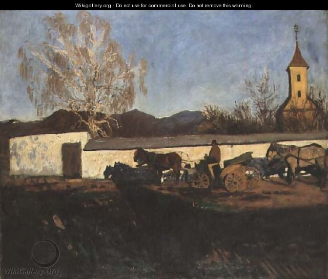 Evening in March - Karoly Ferenczy