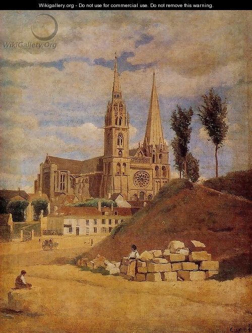 Chartres Cathedral, 1830 - Jean-Baptiste-Camille Corot