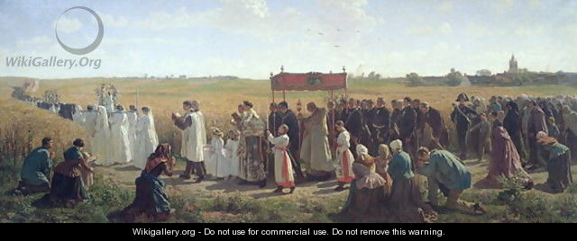 The Blessing of the Wheat in the Artois, 1857 - Jules (Adolphe Aime Louis) Breton
