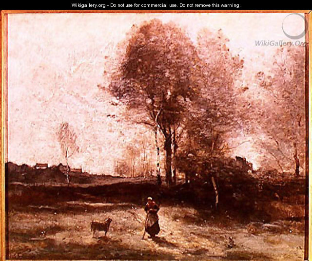 Landscape or, Morning in the Field - Jean-Baptiste-Camille Corot