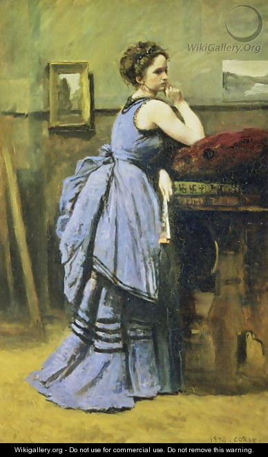 The Woman in Blue, 1874 - Jean-Baptiste-Camille Corot
