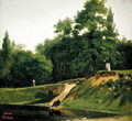Villa d'Avray - Banks of the Stream near the Corot Property - Jean-Baptiste-Camille Corot