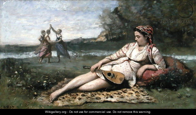 Young Women of Sparta (or Gypsy Reclining) c.1868-70 - Jean-Baptiste-Camille Corot