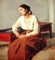 Seated Woman in Brown Skirt - Jean-Baptiste-Camille Corot
